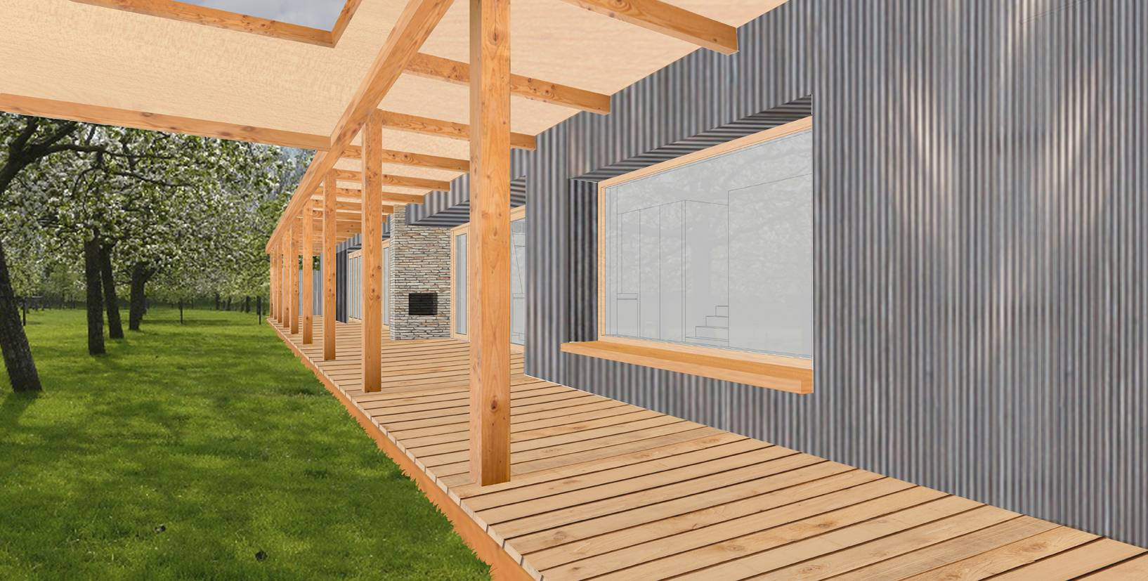 Element A_The Wooden House with Two Verandas_02